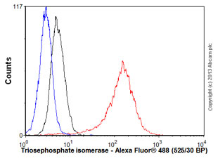 Flow Cytometry - Anti-Triosephosphate isomerase antibody (ab58327)