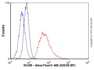 Flow Cytometry - Anti-NCAM antibody [EP2567Y] (ab75813)