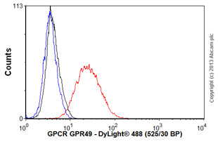 Flow Cytometry - Anti-GPCR GPR49 antibody [EPR3065Y] (ab75850)