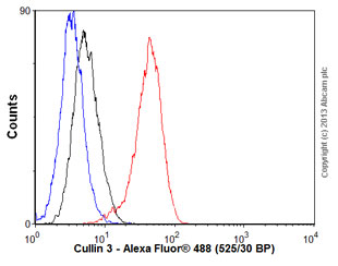 Flow Cytometry - Anti-Cullin 3 antibody [EPR3196Y] (ab75851)