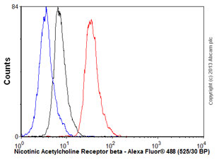 Flow Cytometry - Anti-Nicotinic Acetylcholine Receptor beta antibody [EP2067Y] (ab76159)