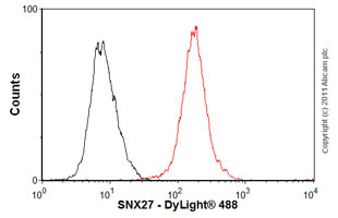 Flow Cytometry - Anti-SNX27 antibody [1C6] (ab77799)