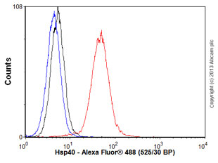 Flow Cytometry - Anti-Hsp40 antibody [3B9.E6] (ab78437)