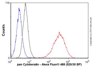 Flow Cytometry - Anti-pan Cytokeratin antibody [C-11] - BSA and Azide free (ab80825)