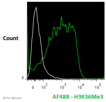 Flow Cytometry - Anti-Histone H3 (tri methyl K36) antibody - ChIP Grade (ab9050)